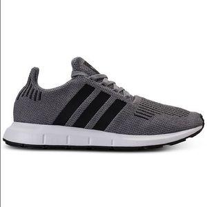 Adidas swift run gray sneakers shoe size 10.5